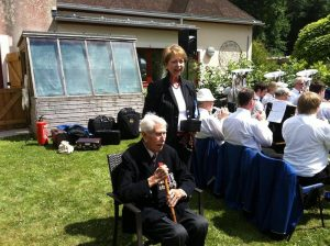 "On 25 June at the Shannon Court garden party, the French Consul-General awarded one of the residents - WBro James Humphries - the Legion d'Honneur (the highest distinction in France) for his role in the D-Day landings. During the ceremony, the Consul-General said ""You are a true hero and will be like all your companions of arms our heroes forever. We French will never forget what you did to restore our freedom."" The award ceremony was proudly attended by WBro Humphries' family and friends, and APGMs Bill Caughie and Trevor Raines."