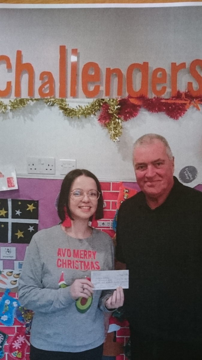Challengers Charity donation by Surrey Freemasons
