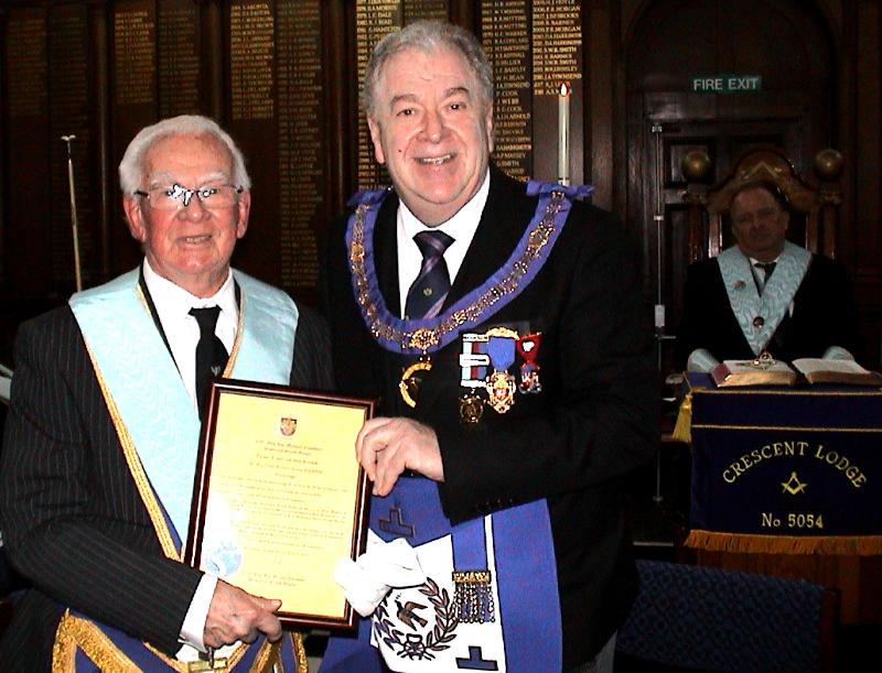 50 years in Freemasonry