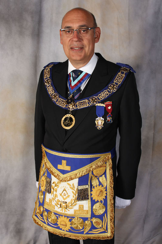 R.W Bro Ian Chndler. Provoncial Grand Master of Surrey