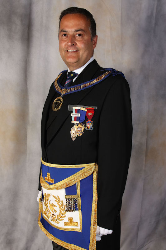 Assistant Provincial Grand Master of St Andrews' Group W. Bro Robert Dobbie, PSGD