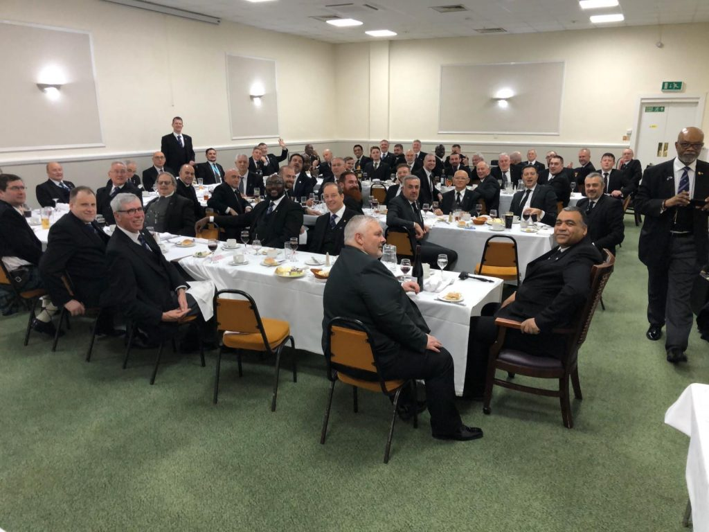 Purley Masonic Lodge Croydon - Twinning Ceremony Festive Board